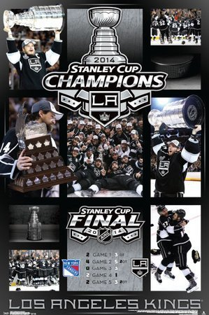 (22x34) 2014 Stanley Cup - Celebration Hockey Kings Poster by Poster Revolution