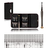 GVN Practical 25 in 1 Precision Screwdriver Set Repair Open Tool Kit with Black Bag for PC Laptop,Macbook,Mobile Phone,iPad,Watch,Car Keys,Tablet