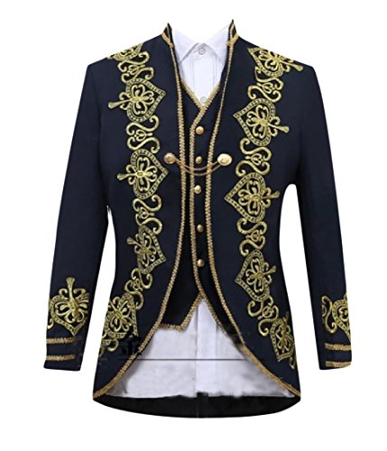 SummerMen Summer Men Stage clothes Embroidered 3 Pieces Luxury Unique Style Blazer free shipping