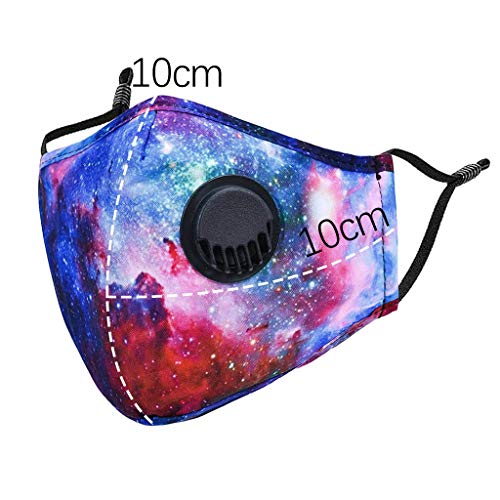 3pcs Face Bandana with Breathing Valves Washable Reusable Anti Dust Protection with 3PC Filter For Women Men (3 PC, Multicolor)