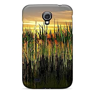 Sanp On Case Cover Protector For Galaxy S4 (cattails In Pond) by lolosakes
