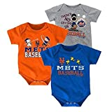 Baby Boys New York Mets Peanuts 3 Pack Bodysuits Size 0-3 Months