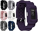 Moretek Unity Series Premium Hybrid Protective Bumper Protective Case for Fitbit Charge 2 smart watch accessories Replacement band (Purple)