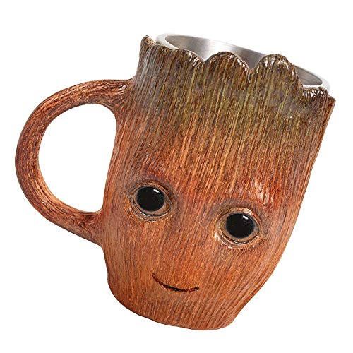 Havitar Creative Transformers style Coffee Mug, Ninja Coffee Mug, Bumblebee style Coffee Mug Optimu sstyle Mug Coffee Mug Christmas Gift Iron Man Mug (Groot Cup) ()