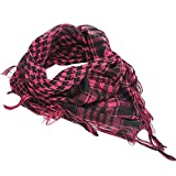 TRENTON Unisex Arabian Square Scarf Desert Scarf Tactical Head Scarf With Tassels