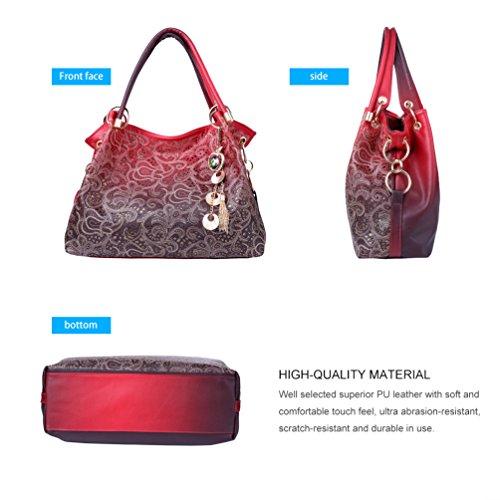 VBIGER - Bolso de tela para mujer Rojo Red Red
