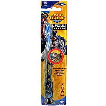 Amazon.com : Batman(justice League) Toothbrush with cap(RED) Travel Kit - 2 Pc : Beauty
