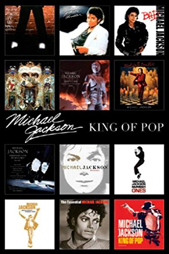 Michael Jackson Album Covers Poster