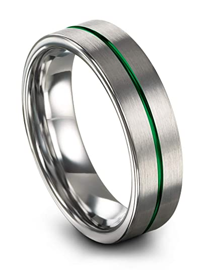 Chroma Color Collection Anillo de Boda de tungsteno de 6 mm para Hombres y Mujeres,