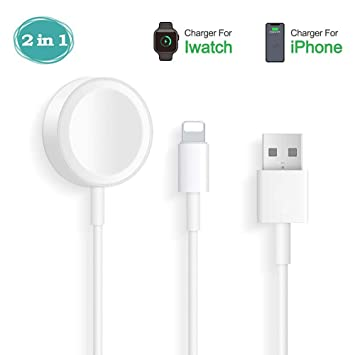 Hoidokly Apple Watch Cargador 2 en 1 iWatch Cable para Apple ...