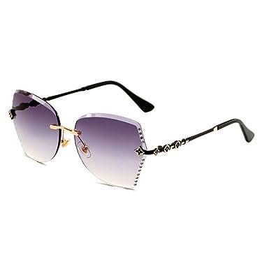 yeahbo Nuevas gafas de sol sin marco para mujer gafas de sol ...