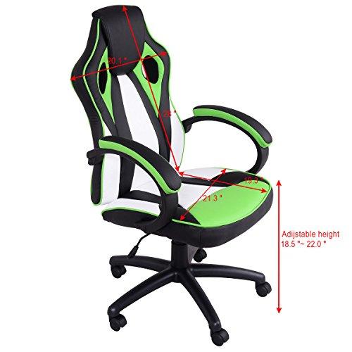 Giantex Executive Racing Chair Pu Leather High Back Gaming