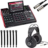 Akai Professional MPC X | Standalone MPC with 10.1'' High-Resolution, Adjustable, Multi-Touch Display + Professional Headphones + MIDI Cable + Strapeez - Top Value Bundle