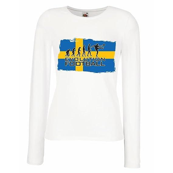 lepni.me Camisetas de Manga Larga para Mujer Campeonato Mundial de Fútbol de la Copa