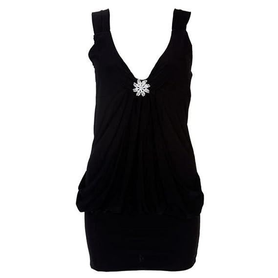 neuen Frauen plus size diamonte thematisieren ausführlich drapieren Kleid  Damen Abend Party-Kleid: Amazon.de: Bekleidung