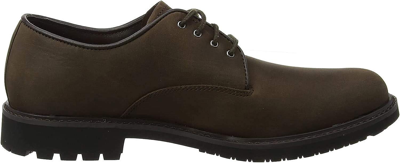 Timberland Stormbucks PT, Zapatos de Cordones Oxford para Hombre, Marrón (Dark Brown Nubuck), 43 EU