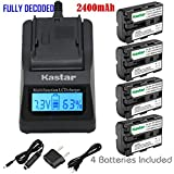 Kastar Fast Charger and NP-FM500H Battery (4-Pack) for Sony DSLR-A100/A200/A300/A350/A450/A500/A550/A560/A580/A700/A850/A900 Alpha SLT A57 A58 A65 A65V A77 A77V A77 II A77M2 A99 A99V CLM-V55 Cameras