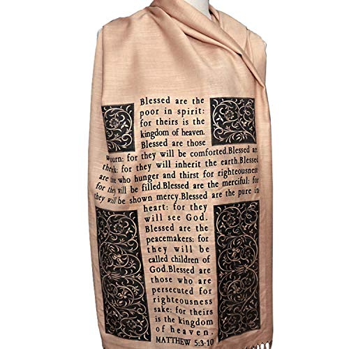 - Christian Bible Verse Scarf (Psalm 23 and The Beatitudes)