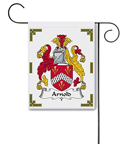 Carpe Diem Designs Arnold Coat of Arms/Arnold Family Crest 11 X 15 Garden Flag – Made in The U.S.A.