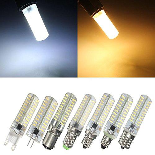 Anncus G4/G9/E11/E12/E14/E17/BA15D Dimmable LED Bulb 4W 80 SMD 4014 Corn Light Lamp AC 220V - (Base: G9, Color: Warm White)