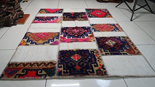 Turkish Vintage rug, Patchwork rug, Vintage rug, Handmade Rug,