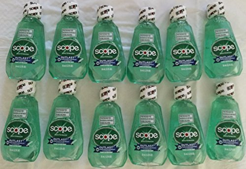 Scope Outlast Mouth Wash 1.2oz (36ml) Travel Size TSA approved by Scope
