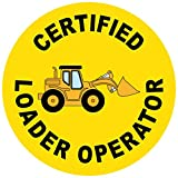 Certified Loader Operator 2 Hard Hat Labels Plain & Reflective Vinyl Reflective Vinyl