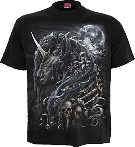 Spiral Mens - Dark Unicorn - T-Shirt Black - M (Gothic Unicorn)