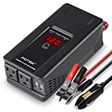 POTEK 500W Power Inverter DC 12V to 110V AC Car Converter with Digital Display Dual AC Outlets and Dual USB Charging Ports for Tablets, Laptops and Smartphones