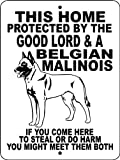 Animalzrule Belgian Malinois 9 x 12-Inch Aluminum Guard Dog Sign