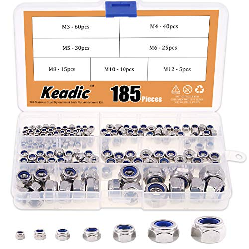 Keadic 185Pcs Stainless Metric Assortment product image