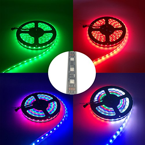 IKSACE 16.4ft WS2811 300LEDs DC 12V Addressable Programmable Dream Color LED Digital Strip Pixel Strings 5050 RGB Flexible Colorful Rope LED Strip (Pack no Remote Controller) by IKSACE (Image #5)