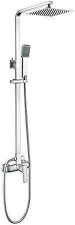 Douchette Flexible T/ête Support Chrom/é Argent Ibergrif M21710 Colonne de Douche Encastr/é avec Mitigeur Thermostatique