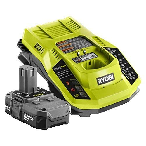 Factory Reconditioned Ryobi ZRP127 18V ONE+ Battery and Charger Kit (ZRP102 and ZRP117) by Ryobi (Renewed) - Factory Reconditioned 18v Compact