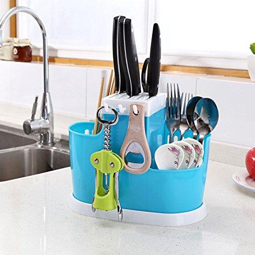 MAZIMARK-Cutlery Storage Holder Spoon Chopsticks Basket Kitchen Organizer Drying Rack