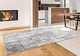 Luxe Weavers Euston Gray 8 x 10 Abstract Modern