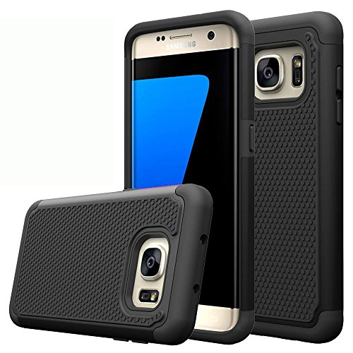 Shockproof Armor Case for Samsung Galaxy S7 Edge (Black) - 7