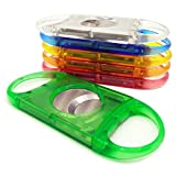 CyJay Cigar Cutter Stainless Steel Plastic Double Blades Cutter Perfect for Most Cigars (green)