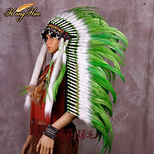 Maslin 28 inch Royal Blue Indian Feather Native