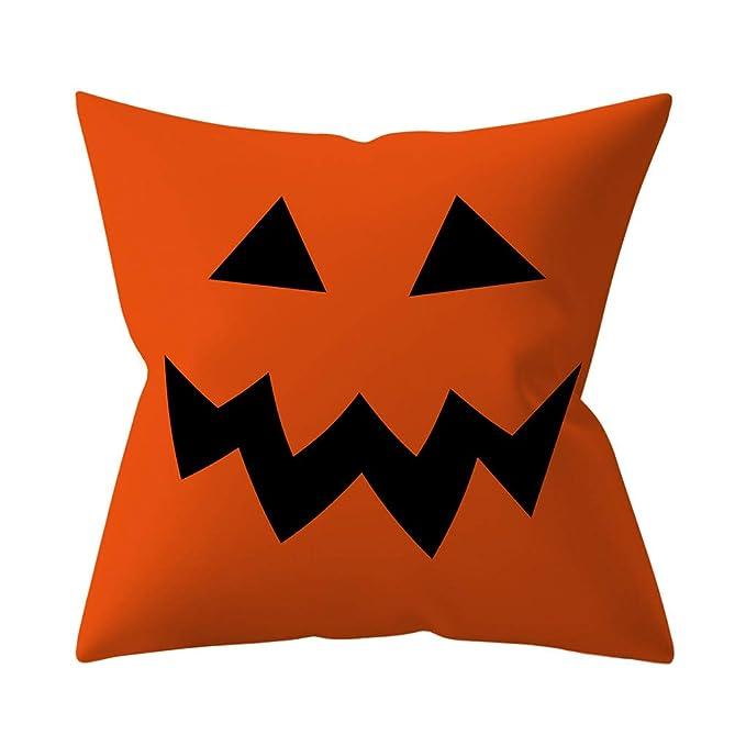 Amazon.com: Dermanony - Fundas de almohada para Halloween ...