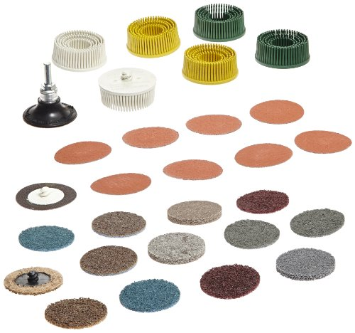 3M Roloc Bristle Disc Kit 982RS, 25000 rpm, 2'' Diameter (Pack of 5) by 3M