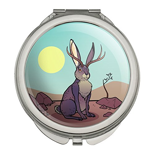 Cartoon Jackalope Compact Travel Purse Handbag Makeup for sale  Delivered anywhere in USA