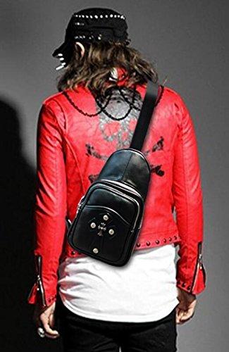 La Uso De Pinchu Cuero Moda Cruzado Diario Pu Pecho crocodileprint Moda Diseñador Del Negro Lujo Bolso PxPp8qwT