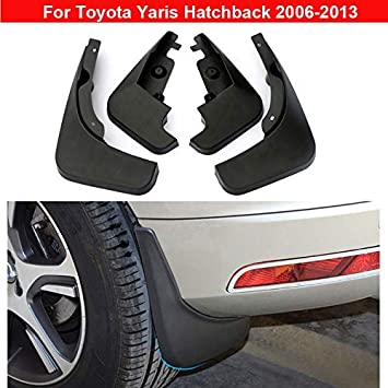 4 Car Mud Flap Splash Guard Fender Mudguard For Toyota Yaris Hatchback 2006-2013
