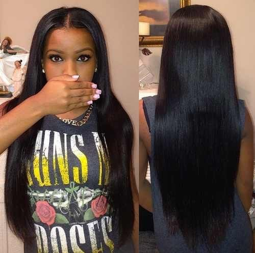 ISEE Hair 8A Peruvian Remy Hair Silky Straight Hair Weave 100% Unprocessed Peruvian Straight Hair 3 Bundles Natural Color 14 16 18inches