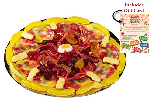 Whole Foods Pizza (GIANT GUMMY CANDY PIZZA in a Pizza Box (15.34 Oz) – Includes Custom Gift Card)