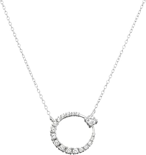 2 Extension Sterling Silver CZ Two Tone Flower /& Heart Necklaces 16