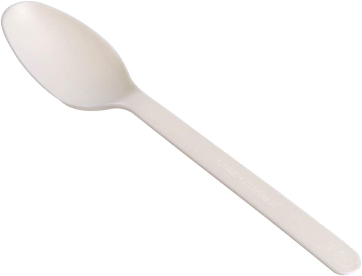 AmazonBasics Compostable Spoons, Pack of 100