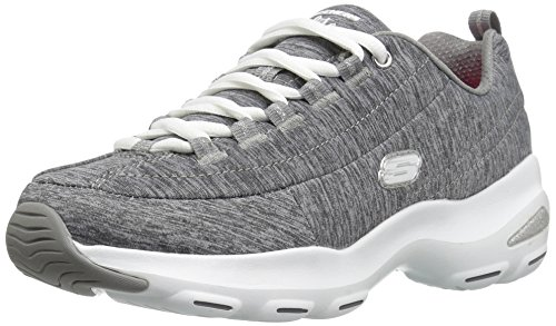 Grey Skechers Meditative Gris D'Lite Baskets Gris Femme Ultra wOaP6