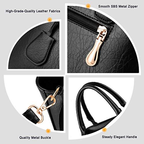 handle White c Vintage Ruitian Womens Soft Capacity Retro Shoulder Casual Bags Handbags Large Tote Leather Top RZzTZwq6